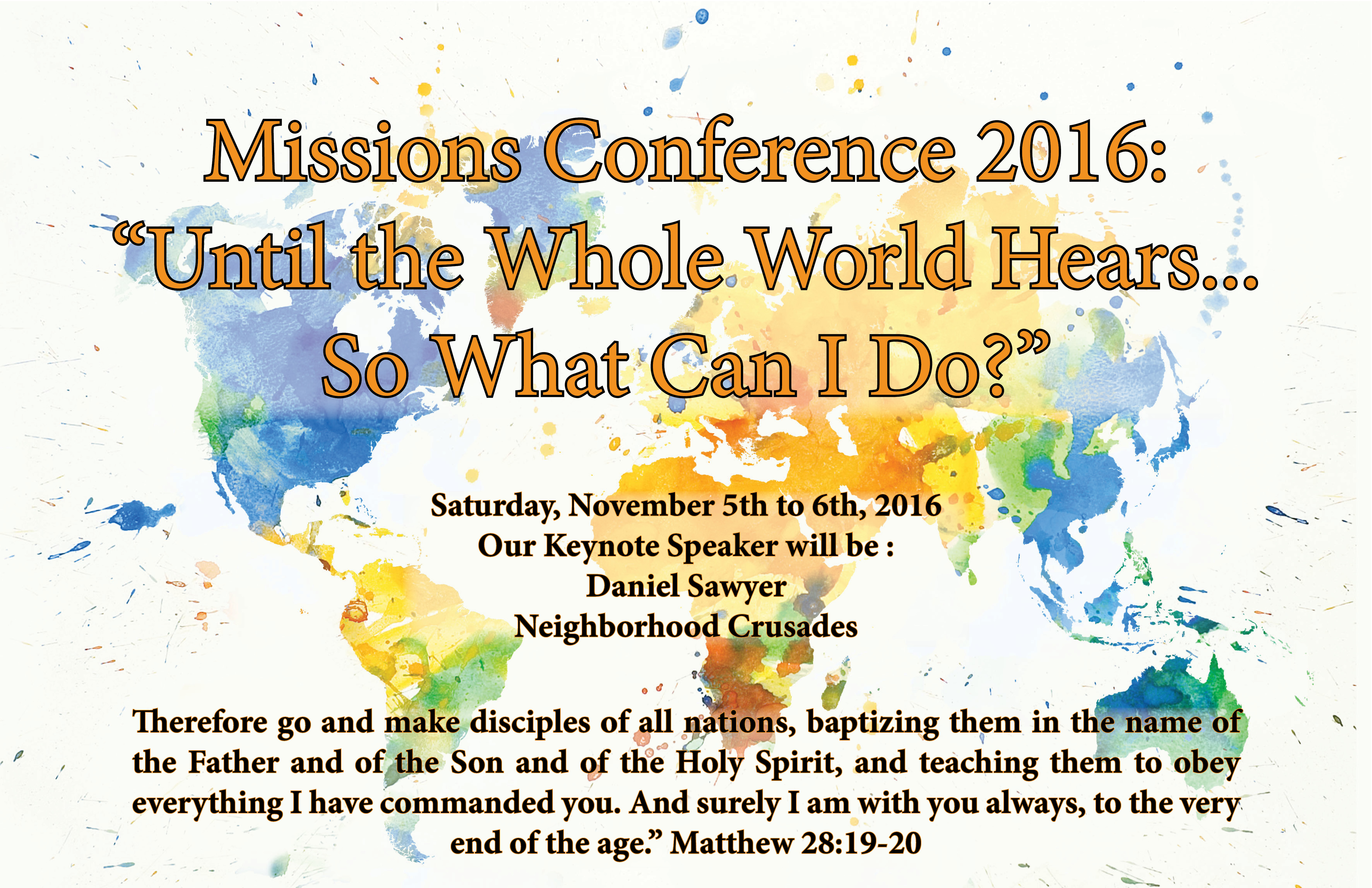 Missions Conference Poster